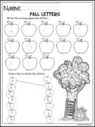 fall-literacy-no-prep-pack-kindergarten-page-1